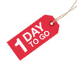 one day to go sign - 79866085