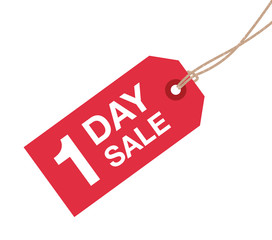 one day sale sign