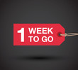 one week to go sign - 79866265