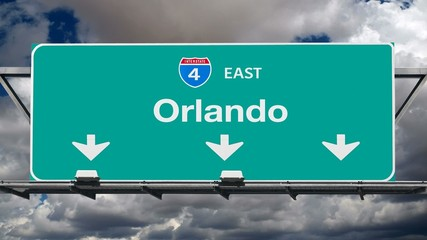 Orlando Interstate 4 Freeway Sign Time Lapse