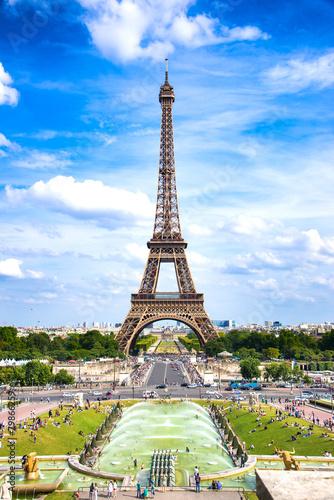 Leinwanddruck Bild Eiffelturm