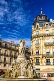 Fontaine des Trois Graces on place de la Comedie in Montpellier,