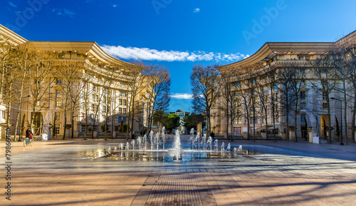 Papiers peints Pays d Europe Fountain in Antigone district of Montpellier - France