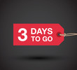 three days to go sign - 79866639