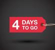 four days to go sign - 79866695