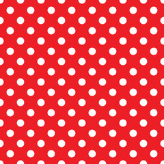 seamless red polka dot background