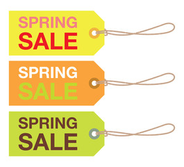 spring sale sign set