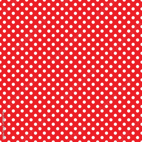 Cotton fabric seamless red polka dot background