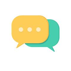 Speech bubbles. Chat symbol.