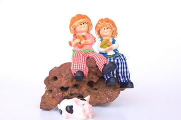 Handmade Rag Dolls - Stock Image