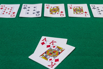 Texas hold em cards