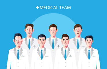 Flat characters of doctor's concept illustrations