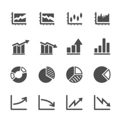 infographic and chart icon set 5, vector eps10