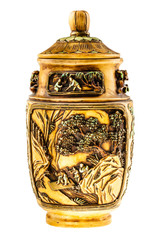 Decorated chinese urn