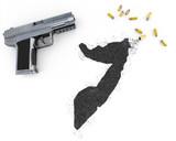 Gunpowder forming the shape of Somalia .(series) poster
