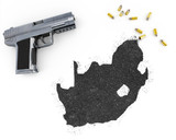 Gunpowder forming the shape of South Africa .(series) poster
