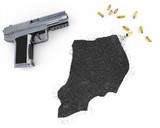 Gunpowder forming the shape of Uganda .(series) poster