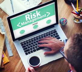 Digital Online Risk Management Office Working Concept