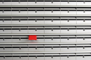 Letterboxes and red envelope