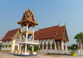 place of worship with sky background at Wat Bung Born