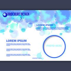 Vector horizontal business brochure for design