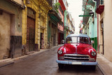 Fototapety Classic old car on streets of Havana, Cuba