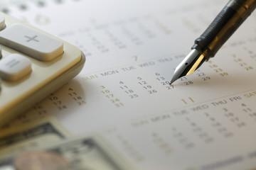 Financial settlement date  - Stock Image