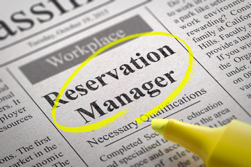 Reservation Manager Jobs in Newspaper.