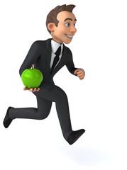 Fun businessman