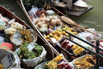fruits selling at Damonen Saduak floating market January 30,2015