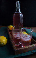 lemonade with purple basil
