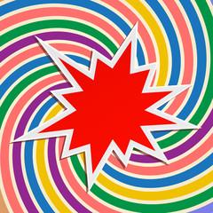 star splash festive abstract background