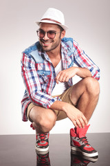 Picture of a smiling young fashion man