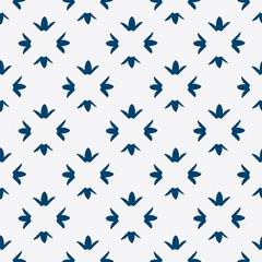 Hand drawn seamless indigo pattern
