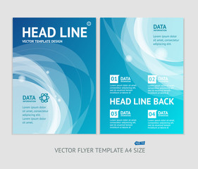 Vector abstract geometric brochure flyer design templates