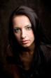 Close up portrait of a beautiful female model