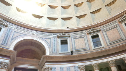 Pantheon, the interior. Rome, Italy