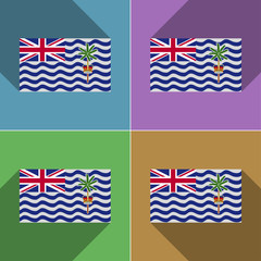 Flags British Indian Ocean Territory. Set of colors fl