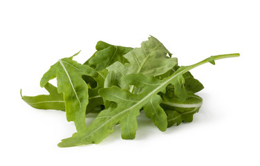 Fresh arugula isolated on white background