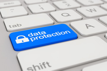 keyboard - data protection - blue