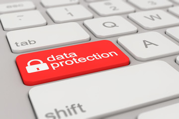 keyboard - data protection - red
