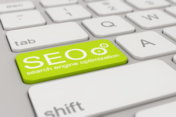 keyboard - search engine optimization - green