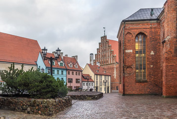 Square in the old town of Riga