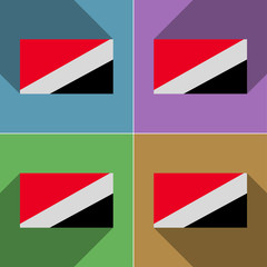 Flags Sealand Principality. Set of colors flat design