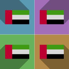 Flags United Arab Emirates. Set of colors flat design