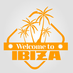 stamp Welcome to Ibiza