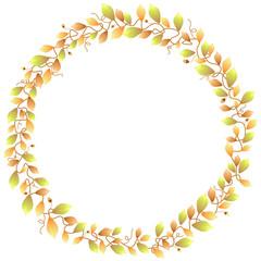 Autumn foliage frame