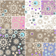 Abstract elegance seamless pattern patchwork design background