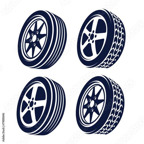 Zdjęcia na płótnie, fototapety, obrazy : car wheel  abstract