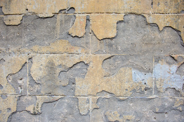 Wall with cracked